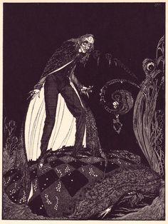 Ces 24 illustrations ont été créées par le peintre-verrier et illustrateur irlandais Harry Clarke qui est mort en 1931. Il était une figure importante du mouvement Arts and Crafts et il a réalisé de nombreux vitraux en Irlande. Elles ont été publiées en 1923 dans une édition du recueil de nouvelles Tales of Mystery and …