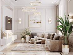 Decor Home Living Room, Interior Design Living Room, Living Room Designs, Living Room Decorations, Classic Living Room, Elegant Living Room, Neoclassical Interior Design, Sala Grande, Home Room Design