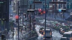 HD wallpaper: anime city illustration, Makoto Shinkai , The Garden of Words Words Wallpaper, Anime Scenery Wallpaper, Hype Wallpaper, Laptop Wallpaper, 1080p Wallpaper, Scenery Background, Animation Background, Cityscape Wallpaper, Avengers Film