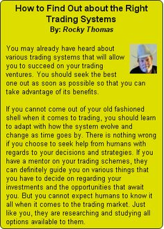 """CCMR TV NewsYou may already have heard about various trading systems that will allow you to succeed on your trading ventures. You should seek the best one out as soon as possible so that you can take advantage of its benefits. If you cannot come out of your old fashioned shell when it comes to … Continue reading """"How to Find Out about the  Right Trading Systems"""""""