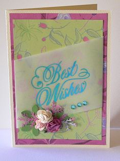 Artdeco Creations Brands: Best Wishes Cards by Adriana Bolzon