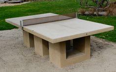 Custom Cast Concrete  Ping Pong Table