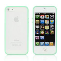 cool Tory Burch iPhone 5 Case | Anley® Candy Fusion Soft Trim TPU Bumper with Frosted Clear Hard Back Cover Case for iPhone 5 5G  5S (Mint Green)