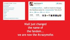 we are now the #crazymofos no longer directioners no peasants we have evolved into *dramatic pause* wait for it crazymofos