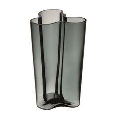 Alvar Aalto vase mørkegrå - 251 mm - Iittala
