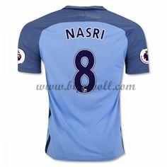 Billiga Fotbollströjor Manchester City 2016-17 Nasri 8 Kortärmad Hemmatröja