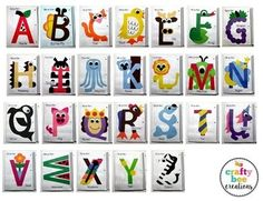 Interactive Alphabet Notebook by Crafty Bee Creations Alphabet Letter Crafts, Abc Crafts, Preschool Letters, Preschool Crafts, Uppercase Alphabet, Letter Tracing, Preschool Learning Activities, Alphabet Activities, Kids Learning