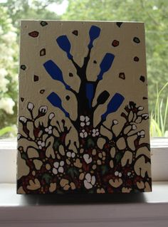 Bethanne Hill  Bottle Tree painting