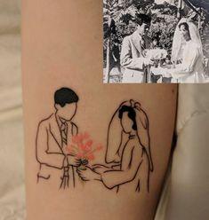 Linework portrait done by Shu at Hailin Tattoo Studio, West Hollywood, CA : tattoos