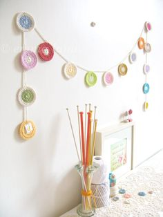crochet penny garland