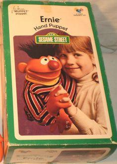I loved my Ernie puppet. 1970s Toys, Retro Toys, My Childhood Memories, Childhood Toys, Vintage Games, Vintage Toys, Sesame Street Puppets, Child Guidance, Nostalgia