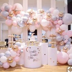 Home Decor Diy Beautiful Twinkle Twinkle Little Star Balloon Arch With Moon & Star Balloons.Home Decor Diy Beautiful Twinkle Twinkle Little Star Balloon Arch With Moon & Star Balloons Deco Baby Shower, Shower Party, Baby Shower Parties, Baby Shower For Girls, Girly Baby Shower Themes, Baby Shower Pink, Baby Shower Table Set Up, Cute Baby Shower Dresses, Babby Shower Ideas