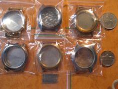 6 Antique Vintage Wrist Watch Cases Complete by HandzofTime, £2.90