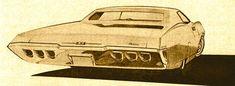 ca. late 60s impala/caprice sketch,(c) harry bradley, gm co, inc