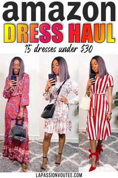 In today's video, I'm sharing with you a fabulous #amazontryon haul featuring fashionable Amazon dresses that are under $30 because I'm all about looking chic on a budget. I hope you love these affordable fashion finds. Black Fashion Bloggers, Black Women Fashion, Fashion Tips, 80s Fashion, Fashion Dresses, Affordable Clothes, Affordable Fashion, Casual Street Style, Street Style Women
