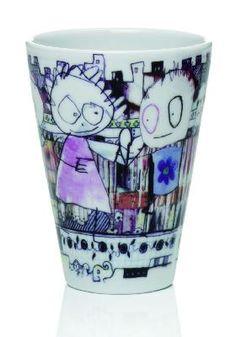 "I believe I found the ideal mug for my tea today (it's quirkylicious): Aida Thermo Coffee Mug Poul Pava ""City"" 2 Set Porcelain Mugs, Espresso Cups, My Tea, Scandinavian Design, Pint Glass, Modern, Coffee Mugs, Ceramics, Deco"