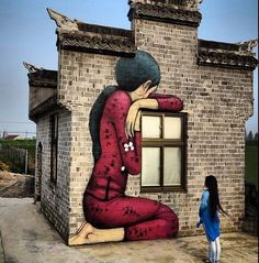 "Seth Globepainter - ""Tales from the countryside"" (part 7) - ""Plum Blossom"", Fengzing, China, April 2015 (https://www.instagram.com/p/1-A4HOMWpt/?taken-by=seth_globepainter)"