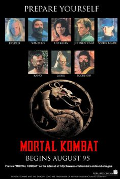 A fan poster I created for the Mortal Kombat movie.