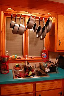 Pots And Pan Rack. For A Smallish Kitchen Without A Lot Of Easy Access  Storage