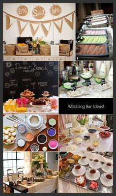 Once Upon A Wedding: ♥ Wedding Food Bar Ideas ♥
