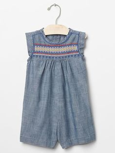 Discover the cutest toddler girl clothes at Gap. Choose from a stylish variety of little girl clothes for every season. Girls Rompers, Girls Dresses, Summer Dresses, Denim Romper, Toddler Girl Outfits, Chambray, Clothes, Gap, Kid Hair