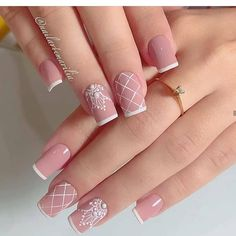Image may contain: one or more people and closeup French Manicure Nails, Polygel Nails, Uv Gel Nails, French Nails, Manicure And Pedicure, Diy Nails, Cute Nails, Pretty Nails, Acrylic Nails