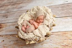 Beige Ruffles Mohair Newborn Pants and Hat Set | Beautiful Photo Props