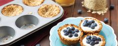Granola Cups with Greek Yogurt and Blueberries