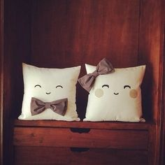 His & Hers Pillow Inspiration *No instructions available.