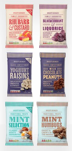 Sweet Heaven Confectionery does a great job of standing out in a line-up of candy packaging. #RetailPackaging #Branding