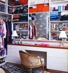 Combine space - need a home office and a closet?