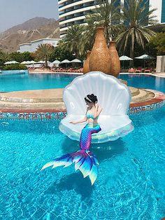 2017 Kids Adult Mermaid Tail With Monofin Vacation Photo Props Cosplay Costume Monofin Mermaid Tail, Girls Mermaid Tail, Mermaid Swim Tail, Mermaid Tails For Kids, Mermaid Swimming, Mermaid Art, Mermaid Paintings, Tattoo Mermaid, Mermaid Beach