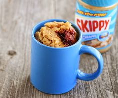 Peanut Butter and Jelly Mug Cake | Kirbie's Cravings; Use non-dairy ...