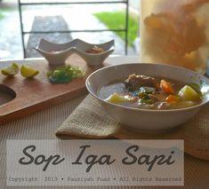 from my little kitchen: Sop Iga Sapi Berempah