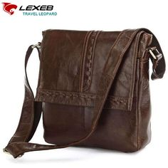 77.99$  Buy here - http://alij4q.worldwells.pw/go.php?t=32714652299 - 2016 New Lexeb Luxury Brand Designer Cow Leather Crossbags For Men Shoulder Messenger Bag High Quality Brown Cowhide Small Flap