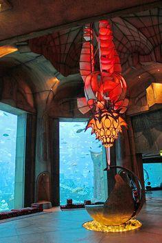It's a beautiful world- The Lost Chambers Aquarium at Atlantis Palm Hotel in Dubai, United Arab Emirates (by Beautiful World, Beautiful Places, Amazing Places, Interior Design Images, Interior Ideas, Dubai Hotel, Dubai Uae, Most Luxurious Hotels, Luxury Hotels