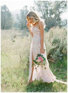 Floral bridesmaid dress by PPS Couture by Plum Pretty Sugar. Image by Jose Villa.