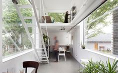 5 tiny house designs perfect for couples - Curbedclockmenumore-arrow : Storage! Privacy! Breathing room!