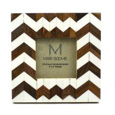 Rudra Bone and Wood Frame for a 3X3 Photo - Matr Boomie (P)
