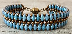 Linda's Crafty Inspirations: Bracelet of the Day: Mystery SuperDuo Bracelet Updated