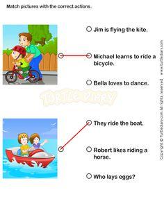math worksheet : action verbs worksheets 12  esl efl worksheets  kindergarten  : Action Words Worksheets For Kindergarten
