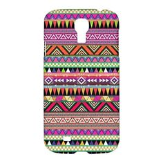 Purple Aztce Tribal Pattern Samsung Galaxy S4 S IV S 4 Case Cover
