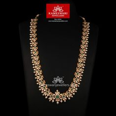 Buy Necklaces Online | Emerald Empress! from Kameswari Jewellers Jewelry Design Earrings, Emerald Jewelry, Necklace Designs, Gold Jewellery, Gold Bangles, India Jewelry, Temple Jewellery, Bridal Jewellery, Jewellery Designs