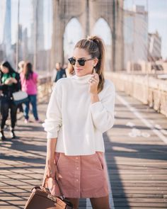 """10.1k Likes, 118 Comments - Julia Engel (Gal Meets Glam) (@juliahengel) on Instagram: """"Sharing five fall trends still going strong over on GMG today. This pink corduroy skirt was one of…"""""""