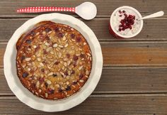 eat it.: cheery and almond clafoutis with lemony coconut whipped cream Lemon Coconut, Coconut Whipped Cream, French Desserts, Raw Vegan, Grain Free, Whole Food Recipes, Almond, Oatmeal, Cherry