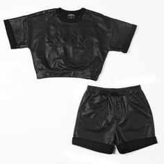 """@StussyWomen """"Coated Sweatshirt + Shorts"""" 