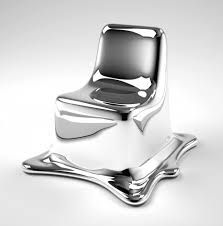 Melting Chair by Philipp Aduatz #livingroomchairs  #diningroomchairs #chairdesign upholstered dining chairs, silver chair, upholstered chairs   See more at http://modernchairs.eu