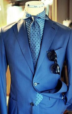 Nice...the modern dandy. A suit like this gives you a great idea of the playful nature of this gentleman. If you see him at a party, be sure to go over and introduce yourself. He's going to be fun.