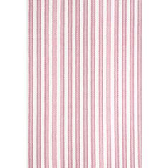 Dash and Albert Port Stripe Pink Cotton Rug