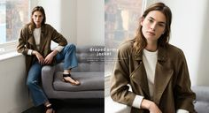 ZARA - #zaraseasonals - draped army jacket